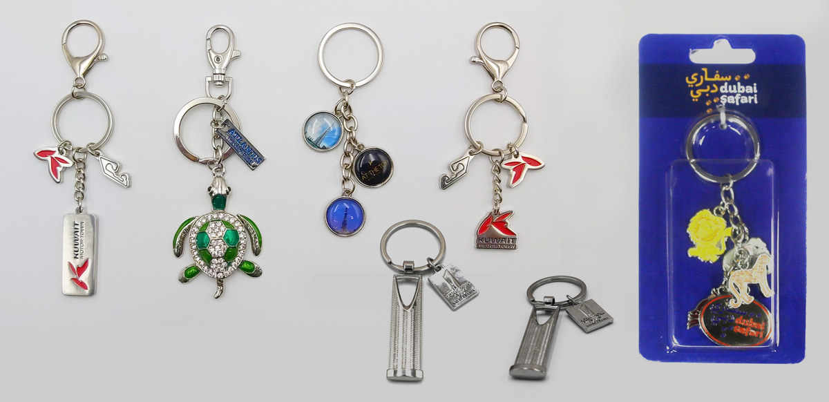Metal Keychain with Charms