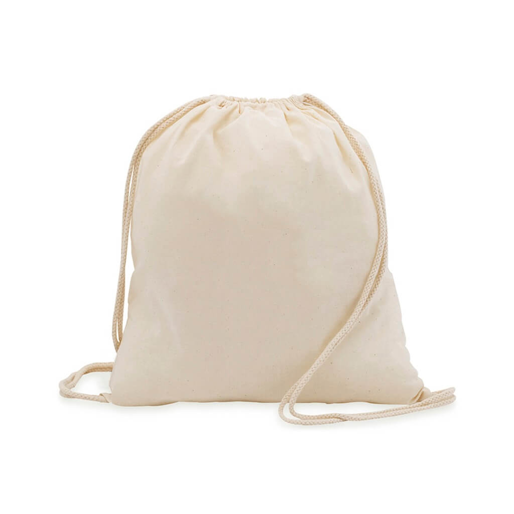 BPMK 110 Drawstring Backpack In 100 Cotton Fabric