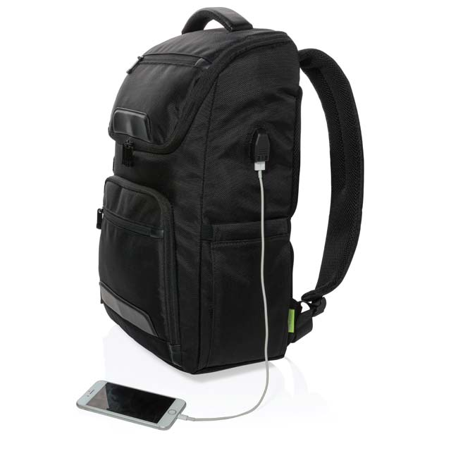 CASTILE UV C Sterilization Backpack in Anti microbial RPET Fabric 1