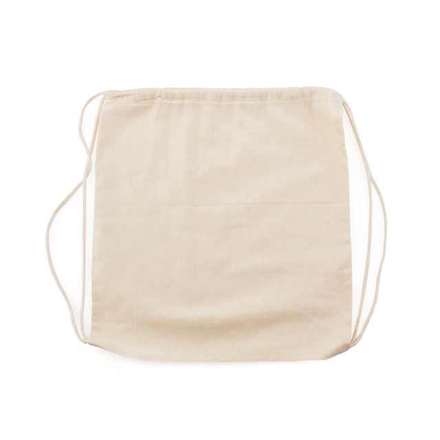 Drawstring Backpack In 100 Cotton Fabric