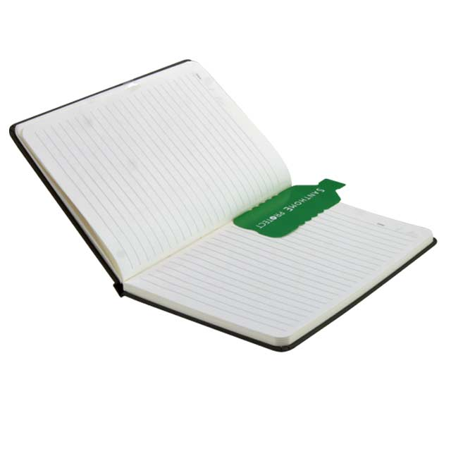 ORSHA SANTHOME A5 Sustainable Eco Friendly Notebook Black Anti Microbial 1