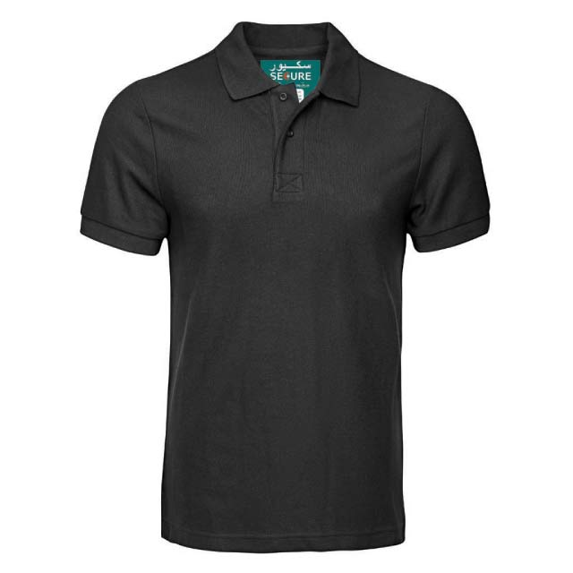 SECURE Black Small SANTHOME SECURE Polo Shirt Anti microbial Small Black