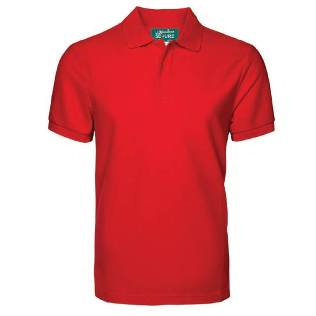 SECURE Red Small SANTHOME SECURE Polo Shirt Anti microbial Small Red