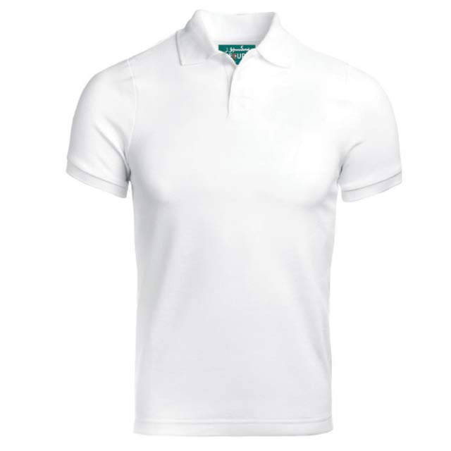 SECURE White Small SANTHOME SECURE Polo Shirt Anti microbial Small White