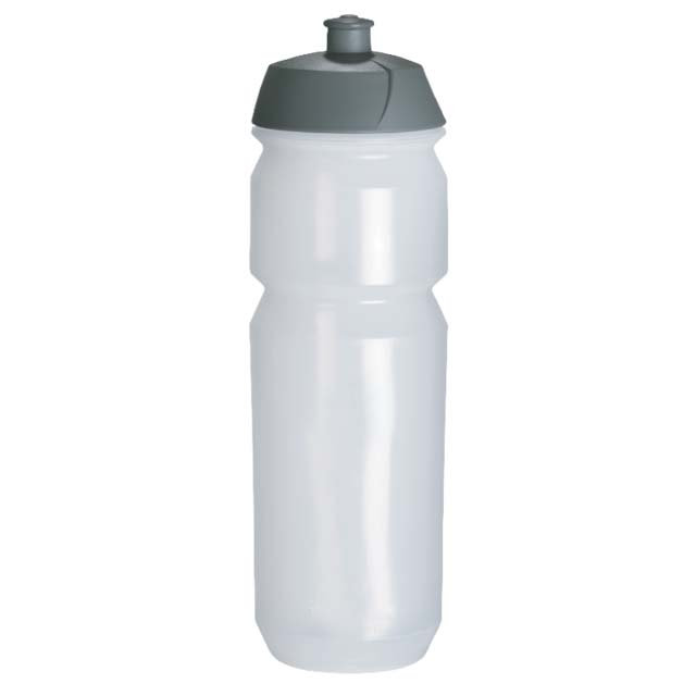 WB 003 Trans Grey Lid Tacx ECO Friendly Biodegradable Water Bottle 750 CC