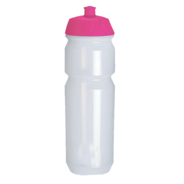 WB 003 Trans Pink Lid Tacx Eco Friendly Biodegradable Water Bottle 750 CC