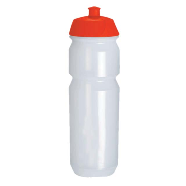WB 003 Trans Red Lid Tacx ECO Friendly Biodegradable Water Bottle 750 CC
